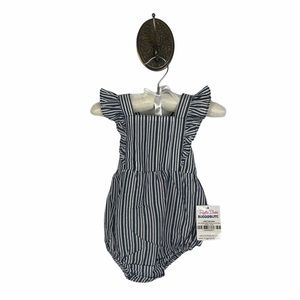 NEW Ruffle Butts Rugged Butts Navy Stripe Romper
